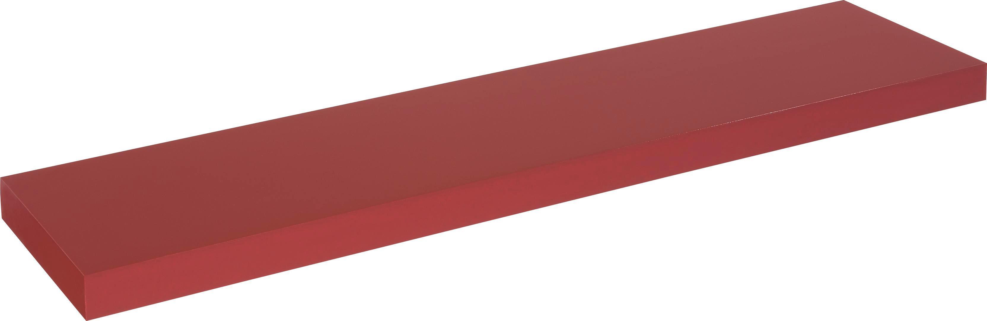 Stenska Polica Anja - rdeča, leseni material (100/4,5/24cm)