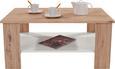 Dohányzóasztal Paolo - tölgy színű/fehér, modern, faanyagok (90/41/55cm)