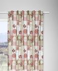 Zavesa Z Zankami Patch - roza/bež, Romantika, tekstil (140/250cm) - Zandiara