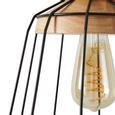 Svjetiljka Viseća Jari - prirodne boje/crna, Modern, drvo/metal (25/120cm) - Mömax modern living