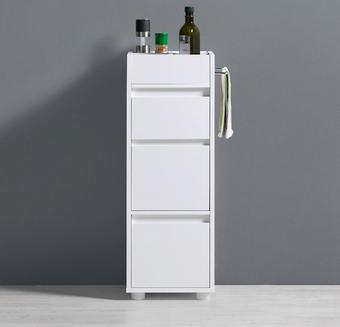 Schrank Basic - Weiß, MODERN, Holz (30/85/30cm) - MODERN LIVING
