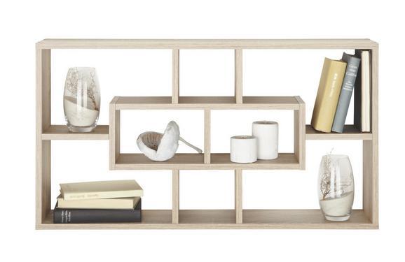 Stenski Regal Lasse - bukev/jesen, Moderno, leseni material (85/47,5/16cm)