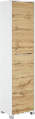 Visoka Omara Umbrien Ii - hrast/bela, Moderno, kovina/leseni material (40/164/33cm) - Mömax modern living