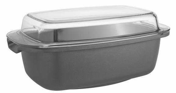 Bräter Toskana in Schwarz aus Metall - Klar/Schwarz, Glas/Metall (32/20,5/17cm) - Mömax modern living