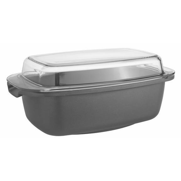 Bräter Toskana Schwarz - Klar/Schwarz, Glas/Metall (32/20,5/17cm) - Mömax modern living