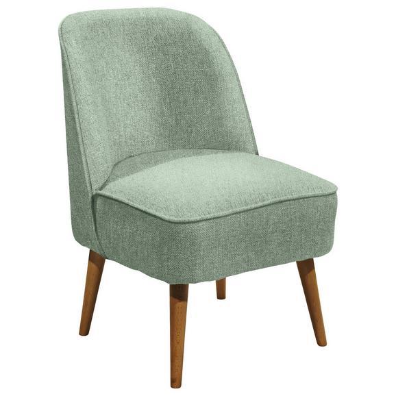 Sessel in Mintgrün 'Pino ES PV' - Mintgrün/Kieferfarben, Trend, Holz/Holzwerkstoff (54/83/66cm) - Livetastic