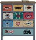 Kommode Vintage Bunt - Blau/Multicolor, MODERN, Holz/Holzwerkstoff (84/87,5/36cm) - MÖMAX modern living