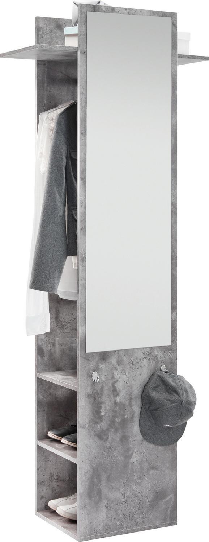 Garderobe Aldona - Graphitfarben, MODERN, Holz (70/188/35cm) - Modern Living