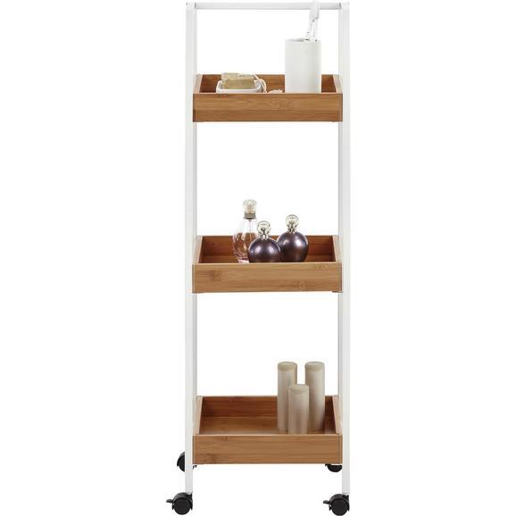 Beistellregal Eichefarben/Weiß - Eichefarben/Weiß, MODERN, Holz/Kunststoff (29/89/27cm) - Mömax modern living