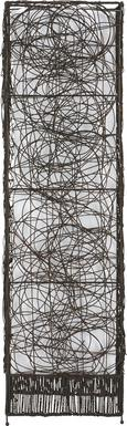 Stehleuchte Rotin 3-flammig - Dunkelbraun, Holz/Metall (30/18/110cm) - Mömax modern living