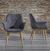 Stuhl Samantha - Dunkelgrau, MODERN, Textil/Metall (59/82/65cm) - Mömax modern living
