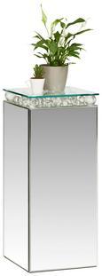 Blumensäule Crystal in Silberfarben - Klar/Silberfarben, MODERN, Glas/Holzwerkstoff (30/71/30cm) - Modern Living