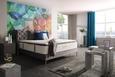 Kontinentalbett Grau ca.160x200cm - Schwarz/Grau, ROMANTIK / LANDHAUS, Holz/Holzwerkstoff (160/200cm) - Premium Living