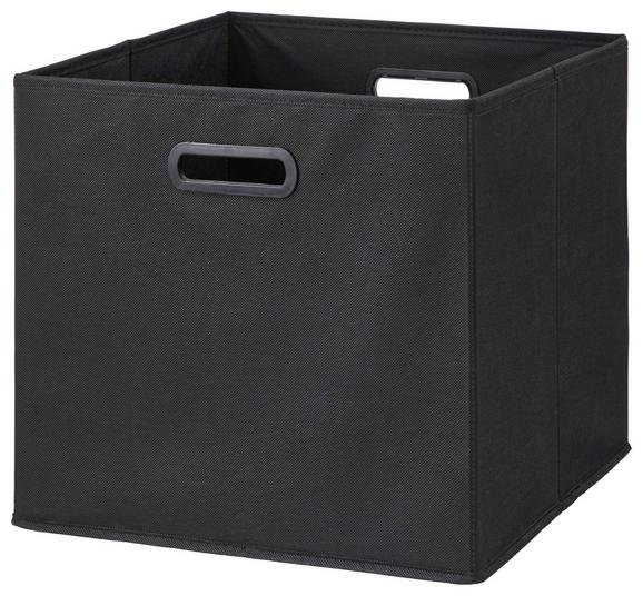 Zložljiv Zaboj Elli -ext- -top- - črna, Moderno, karton/tekstil (33/33/32cm) - Modern Living