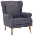 Fotelj Viola - naravna/siva, tekstil (82/95/48/85cm) - Modern Living