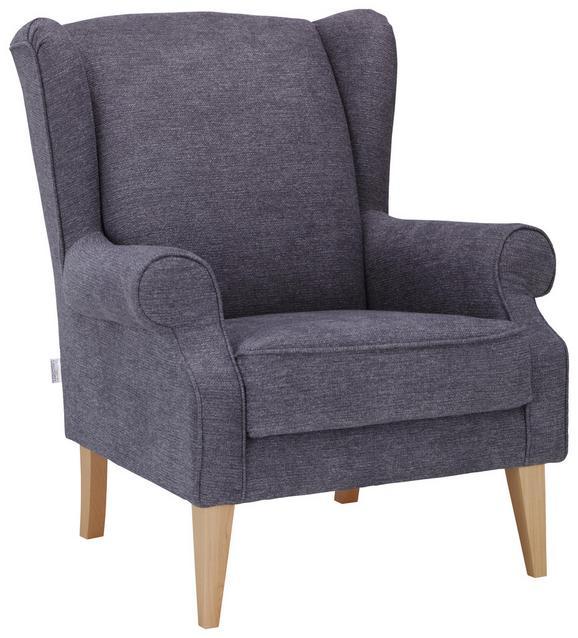 Fotelj Viola - naravna/svetlo siva, tekstil (82/95/48/85cm) - Modern Living