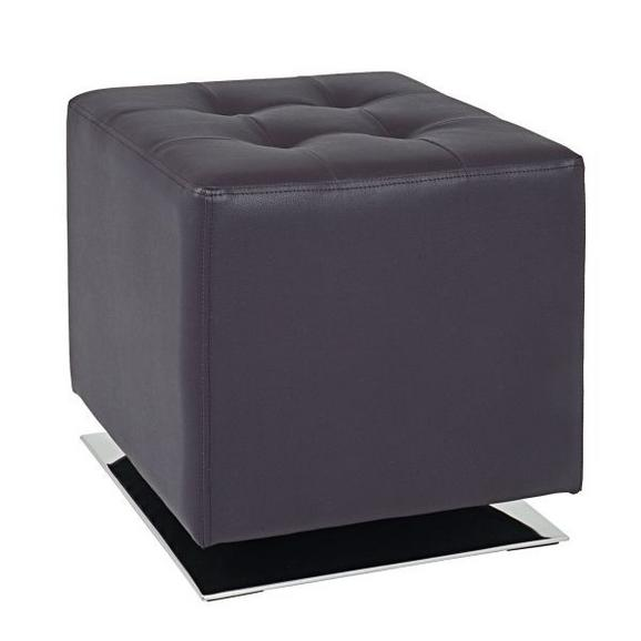 Taburet Beto - krom/rjava, Moderno, kovina/umetna masa (42/45/42cm) - Mömax modern living