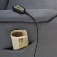 Relaxsessel in Grau mit Aufstehhilfe - Grau, KONVENTIONELL, Kunststoff/Textil (73/110/94cm) - Modern Living