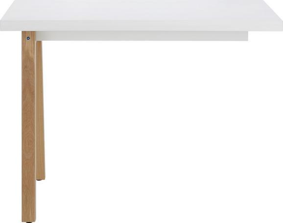 Anbauschreibtisch Weiß/Eiche - Eichefarben/Weiß, MODERN, Holzwerkstoff (100/73,8/60cm) - Premium Living