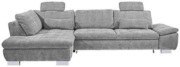 Sjedeća Garnitura Larry - boje srebra/svijetlo siva, Modern, drvni materijal/drvo (197/306cm)
