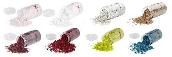 Dekogranulat in verschiedenen Farben - KONVENTIONELL, Weitere Naturmaterialien (0,35l)