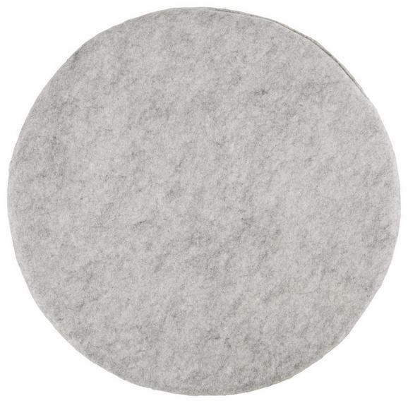 Sitzkissen Filz, ca. 35cm - Türkis/Anthrazit, Textil (35cm) - Mömax modern living
