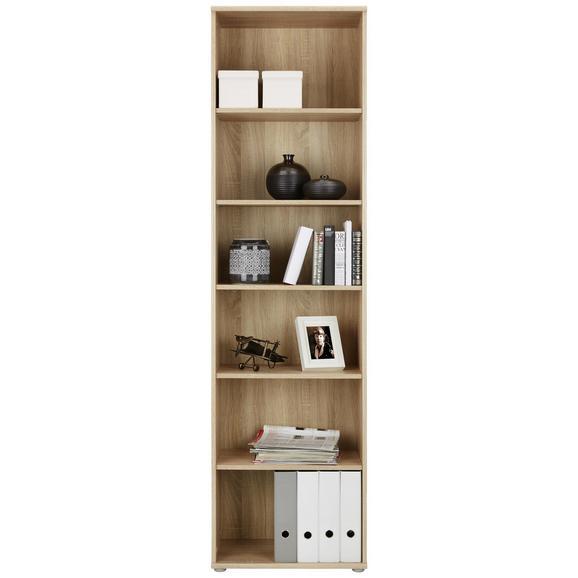 Regal Sonoma Eiche - Alufarben/Sonoma Eiche, MODERN, Holzwerkstoff/Kunststoff (54/198/34cm)