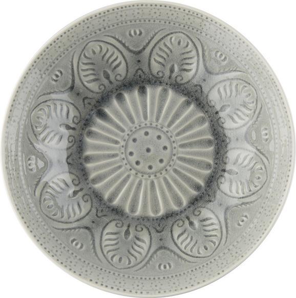 Schüssel Panja aus Keramik in Grau - Weiß/Grau, LIFESTYLE, Keramik (27/8,5cm) - MÖMAX modern living