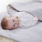 Babydecke Ibena in Natur - Hellgrau, MODERN, Textil (70x100cm) - Ibena-LÖSCHEN