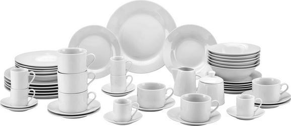 Kombiservice Sandy in Weiß, 50-teilig - Weiß, KONVENTIONELL, Keramik - Mömax modern living