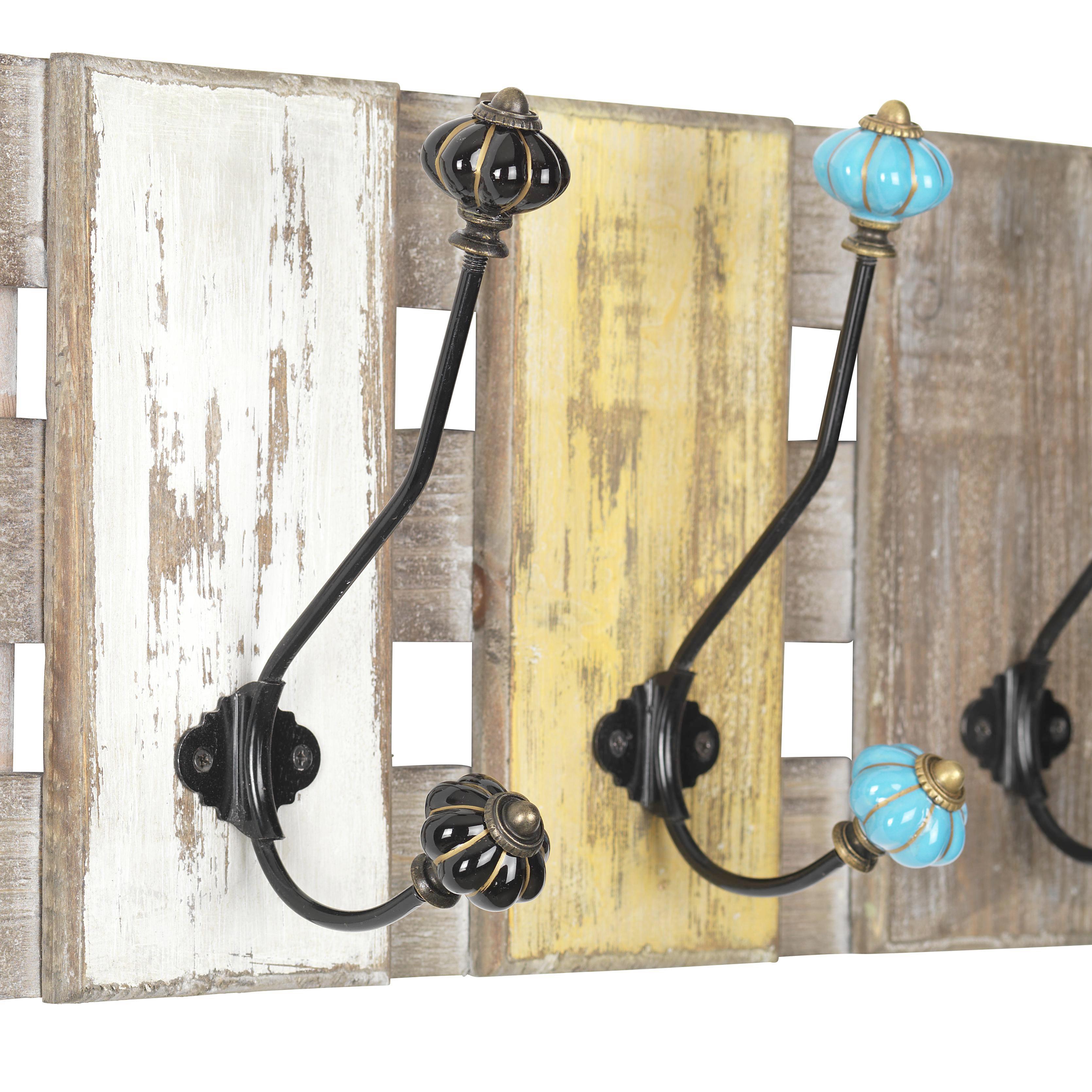 Wandgarderobe Anna - Multicolor, Holz/Keramik (59/21/11cm) - PREMIUM LIVING