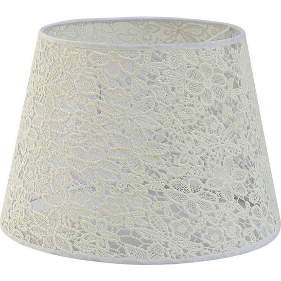 Leuchtenschirm Rossi Weiß - Weiß, ROMANTIK / LANDHAUS, Textil (25-35/25cm) - Mömax modern living