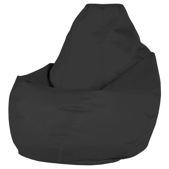 Sac De Şezut Soft L - negru, Modern, textil (120cm)