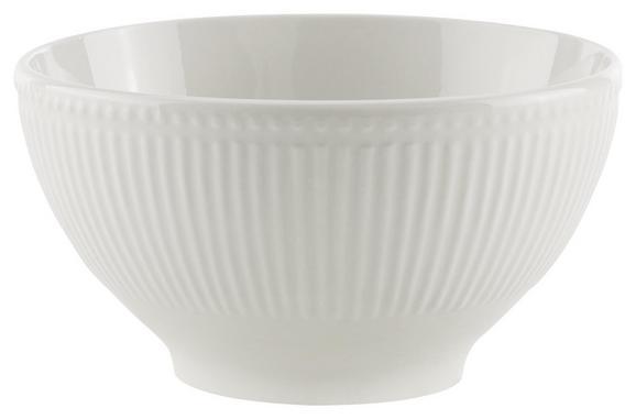 Müslischale Celina Weiß - Weiß, ROMANTIK / LANDHAUS, Keramik (15/8cm)