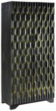 Schrank Schwarz/Goldfarben - Goldfarben/Schwarz, MODERN, Holz (85/180/45cm) - Premium Living