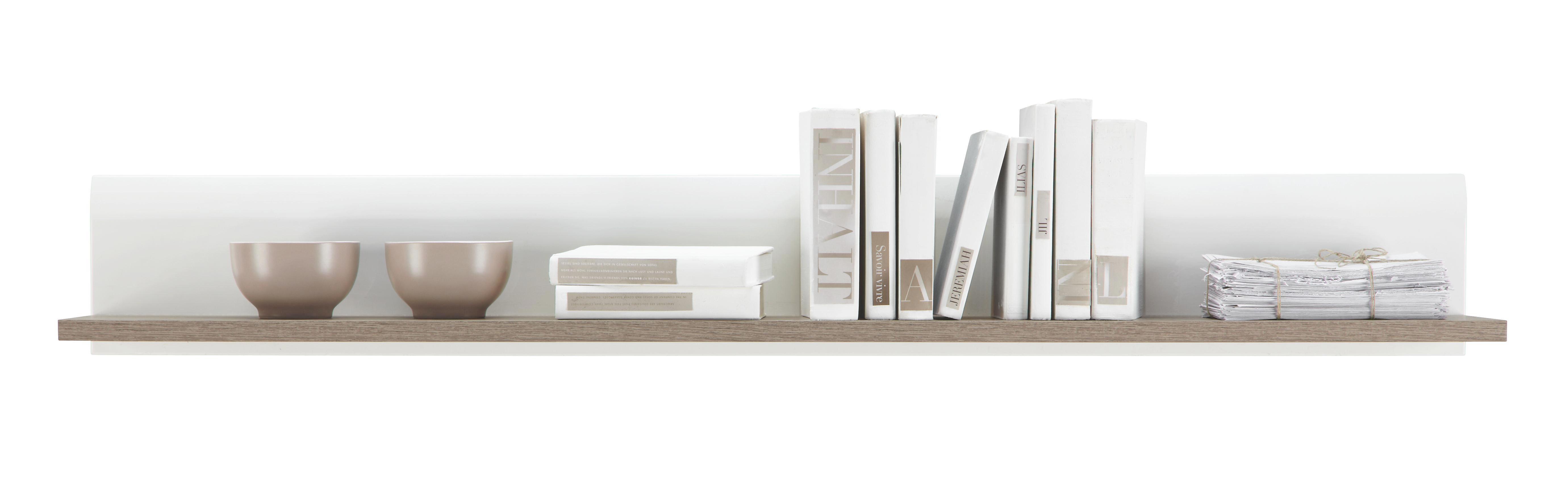 Wandboard in Weiß/Trüffel - Trüffeleichefarben/Weiß, MODERN, Holzwerkstoff (150/20/20cm)