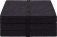 Faltmatratze Schwarz ca. 65x185cm - Schwarz, Textil (65/186cm) - Carryhome