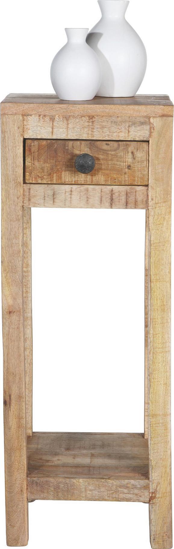 Beistelltisch Naturfarben - Naturfarben, LIFESTYLE, Holz (30/80/30cm) - Zandiara