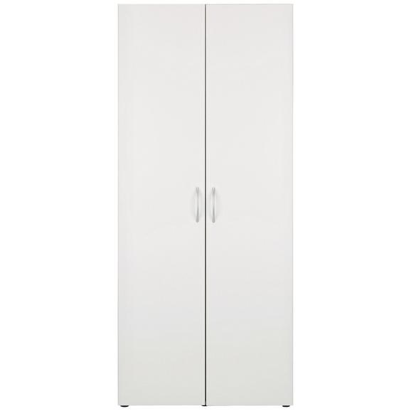 Večnamenska Omara Mrk - aluminij/bela, umetna masa/leseni material (80/185/40cm) - Mömax modern living