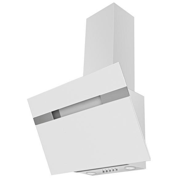 Dunstabzugshaube 60233, Glasschirm Weiß - Weiß, LIFESTYLE (60/94,5-113,5/37,5cm) - Mican