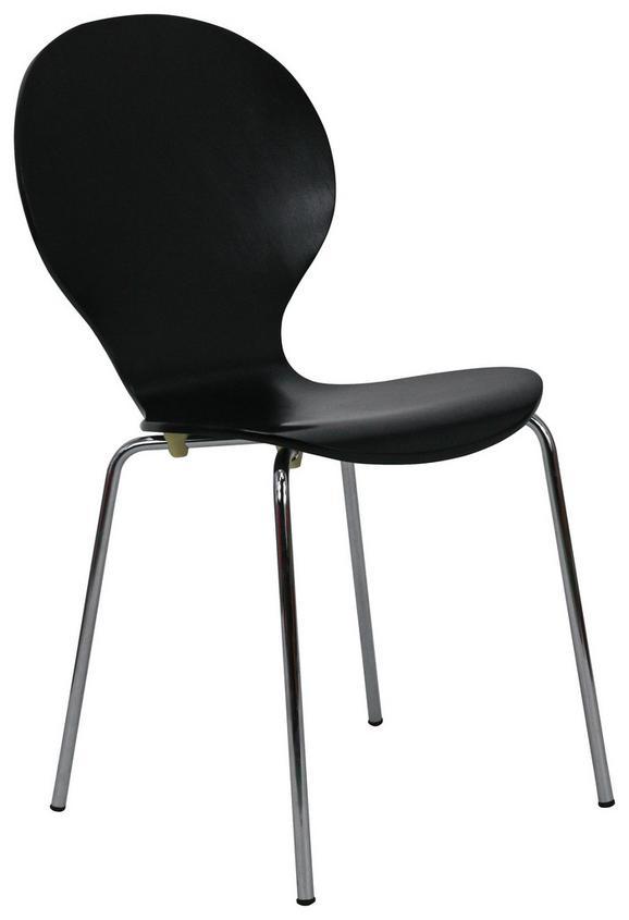 Stol Ria - črna/krom, Konvencionalno, kovina/les (45/86/50cm) - Mömax modern living