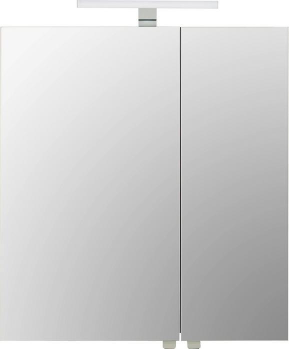 Spiegelschrank Dunkelgrau - Chromfarben/Dunkelgrau, MODERN, Glas/Holzwerkstoff (65/70/21cm) - Mömax modern living