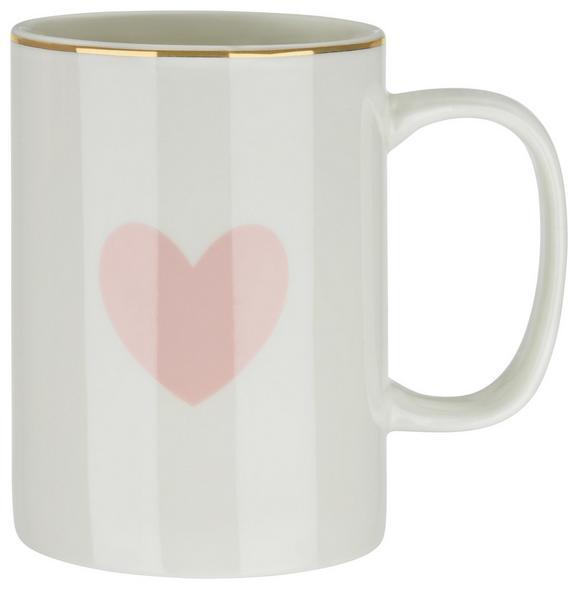 Kaffeebecher Bibi in Rosa/Weiß - Rosa/Weiß, ROMANTIK / LANDHAUS, Keramik (7,9/10,8cm) - MÖMAX modern living