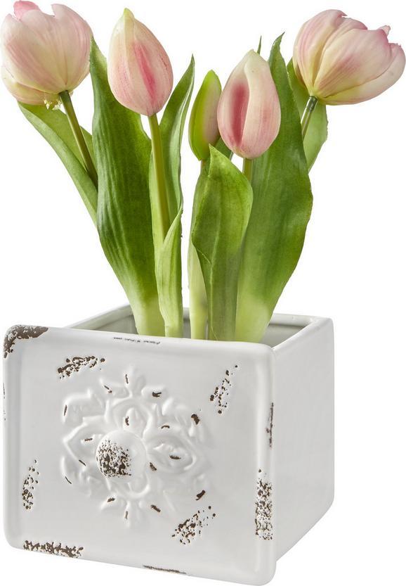 Cvetlični Lonček Francis - roza/bela, Moderno, keramika (13,5/10,5/13,5cm) - Mömax modern living