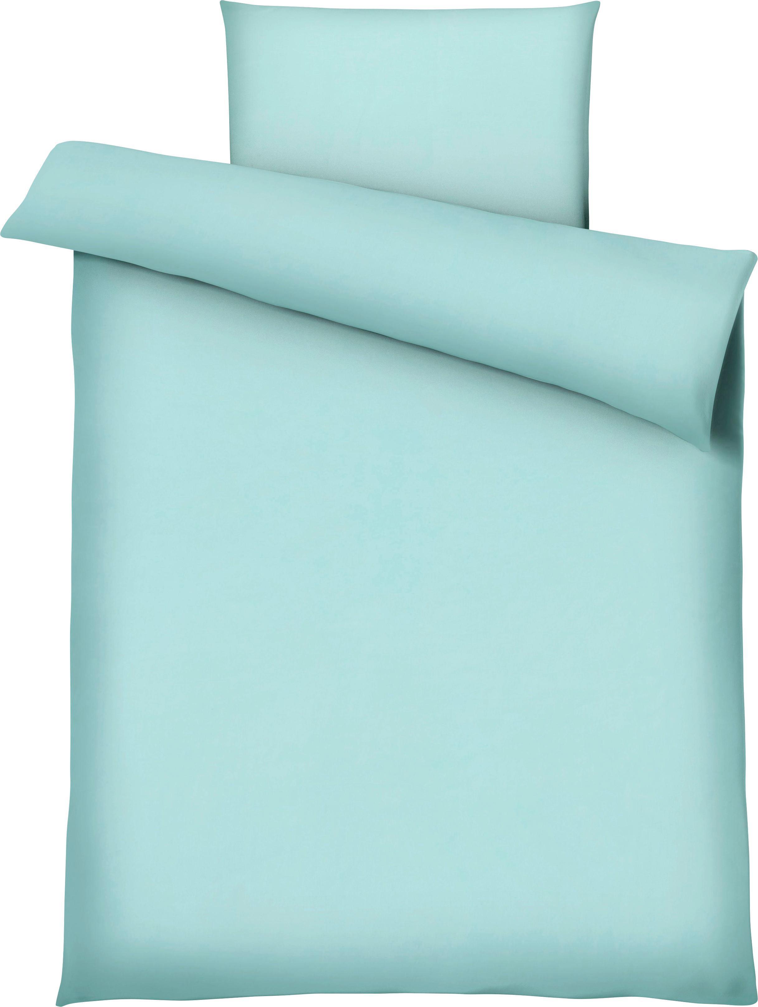 Bettwäsche Marion in Aqua - Blau, Textil (135/200cm) - PREMIUM LIVING