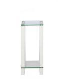 Stojalo Za Rože Paris - 's' - bela/prozorna, steklo/leseni material (25/60/25cm) - Mömax modern living