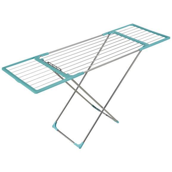 Wäschetrockner Fleximo in Mintgrün - Silberfarben/Mintgrün, Kunststoff/Metall (181/55/110cm) - Premium Living