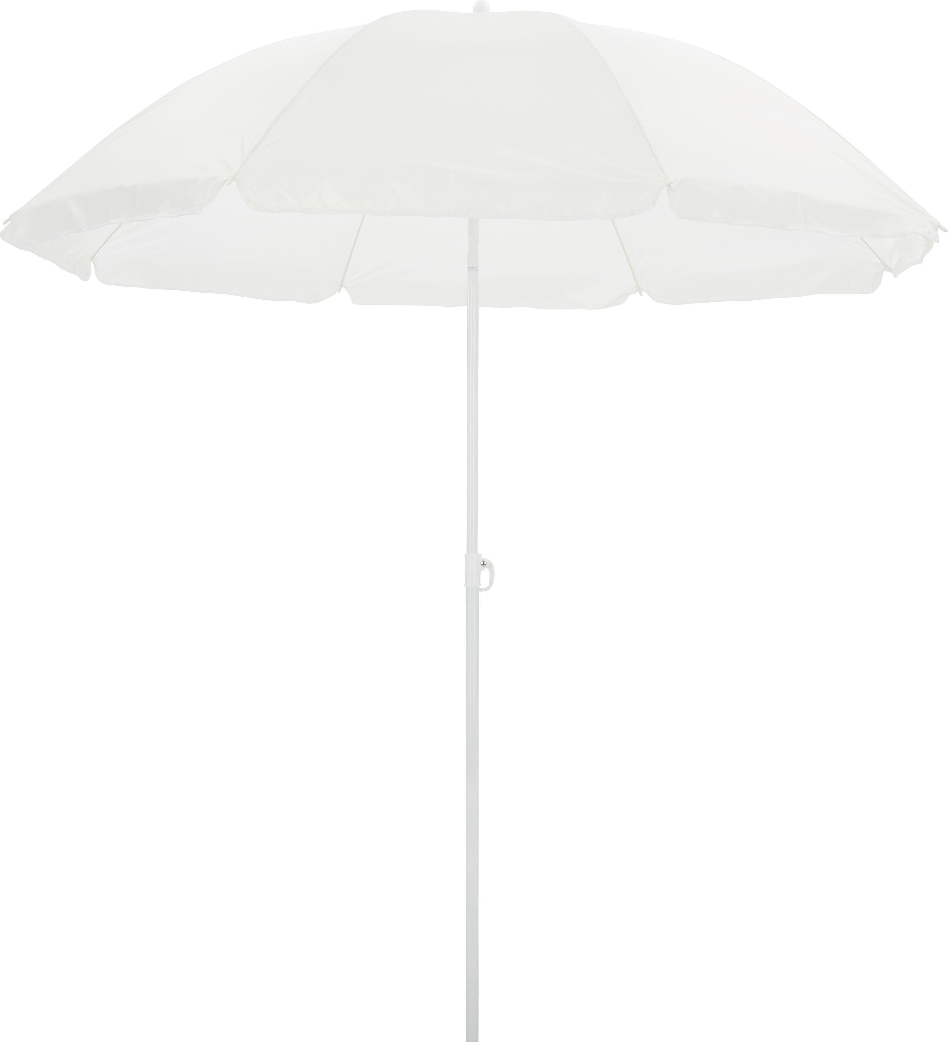 Sonnenschirm Lecci in Weiß - Weiß, Kunststoff/Metall (180/190cm) - MÖMAX modern living