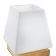 Tischleuchte Holly, max. 60 Watt - Naturfarben, MODERN, Glas/Holz (14/17,3cm) - Mömax modern living