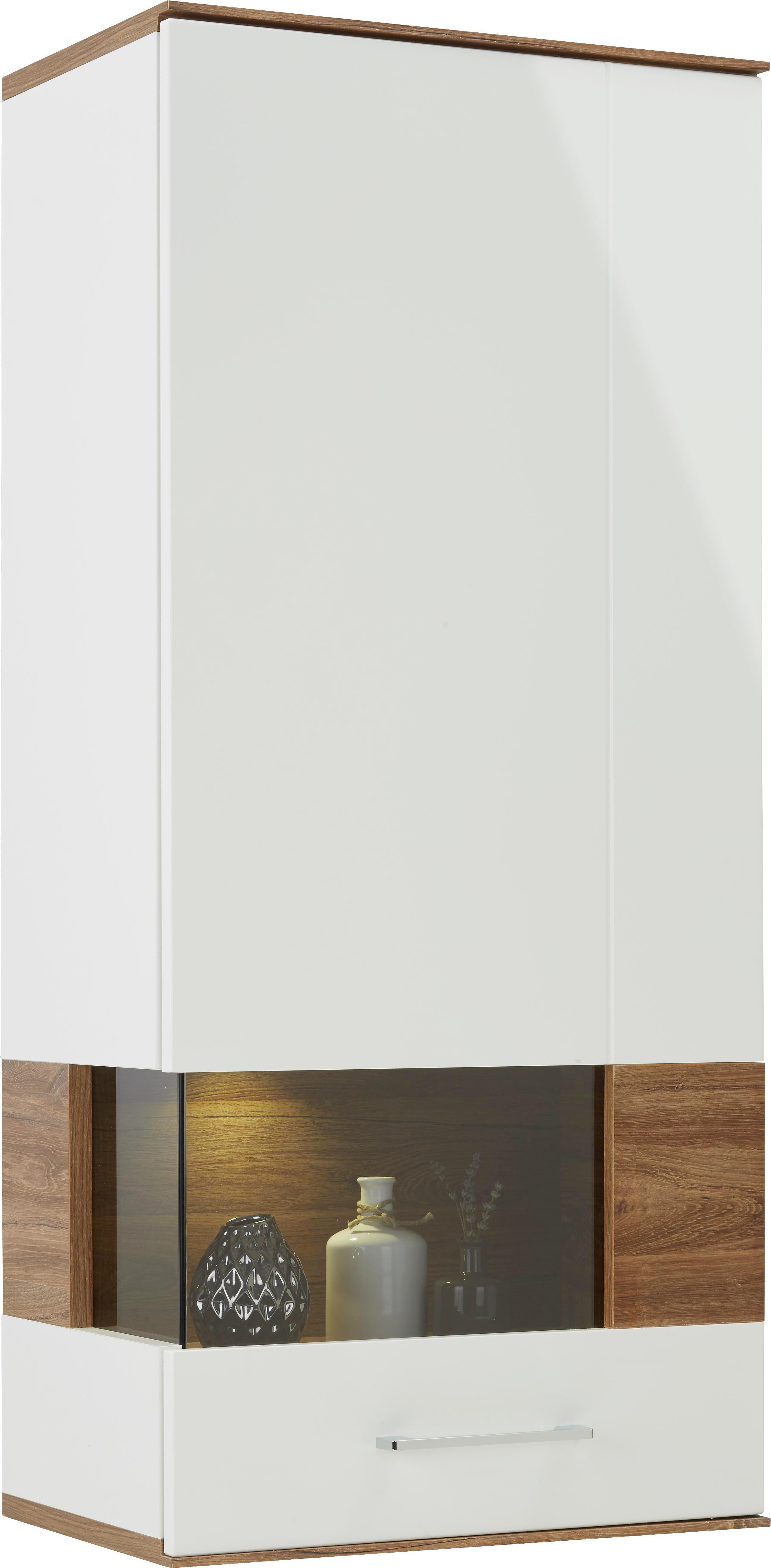 Hängeelement in Weiß/akazie - Weiß, MODERN, Holz (60/133/37cm) - PREMIUM LIVING